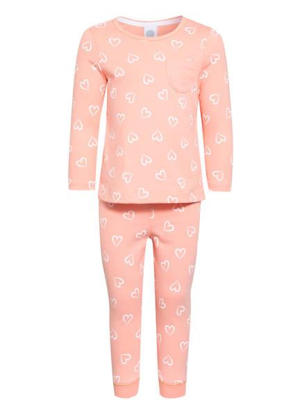 Sanetta Schlafanzug, Farbe: LACHS/ WEISS (Bild 1)
