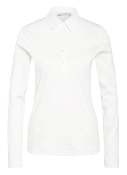lilienfels Jersey-Poloshirt mit Schmucksteinbesatz, Farbe: WEISS (Bild 1)