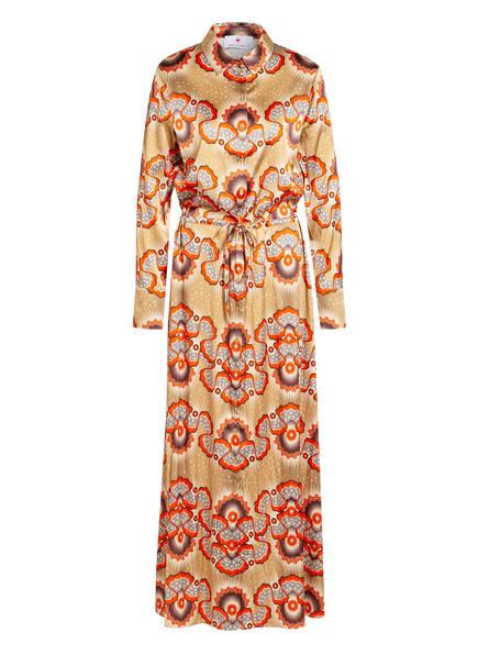 herzensangelegenheit Hemdblusenkleid mit Seide, Farbe: ROT/ BEIGE/ BRAUN (Bild 1)