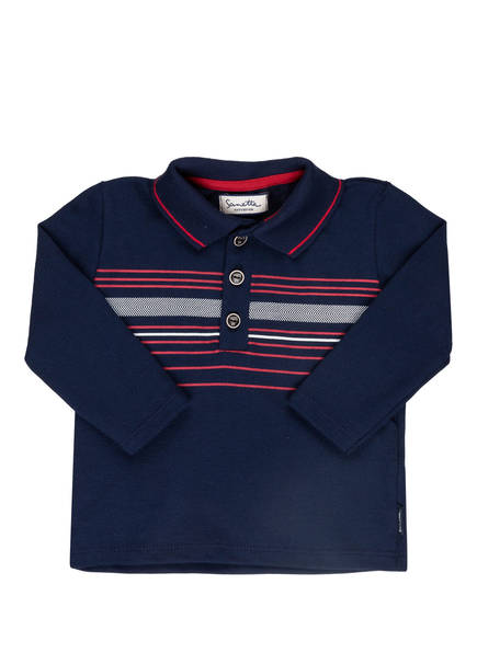 Sanetta FIFTYSEVEN Piqué-Poloshirt, Farbe: DUNKELBLAU/ ROT/ WEISS (Bild 1)