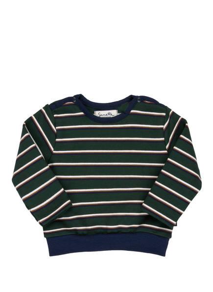 Sanetta FIFTYSEVEN Sweatshirt, Farbe: GRÜN/ WEISS/ DUNKELBLAU GESTREIFT (Bild 1)