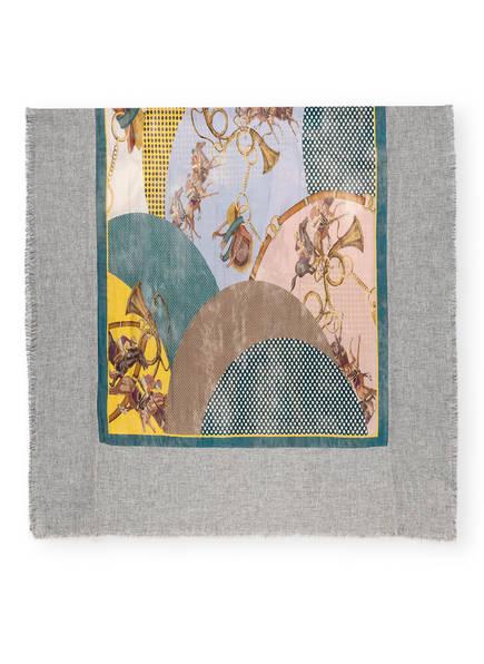 MALA ALISHA Schal, Farbe: HELLGRAU MELIERT/ PETROL/ HELLLILA (Bild 1)