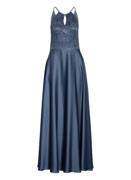 SWING Abendkleid mit Spitzenbesatz, Farbe: BLAUGRAU (Bild 1)