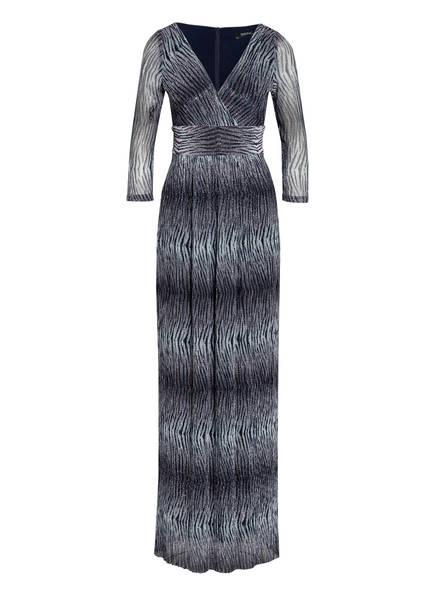 SWING Abendkleid mit 3/4-Arm, Farbe: DUNKELBLAU/ SILBER (Bild 1)