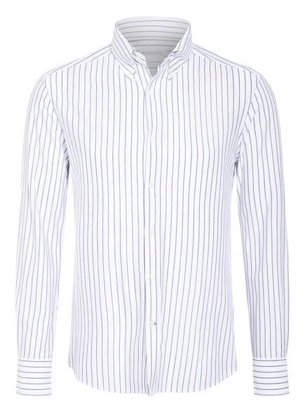 BRUNELLO CUCINELLI Hemd Slim Fit, Farbe: WEISS/ DUNKELBLAU GESTREIFT (Bild 1)