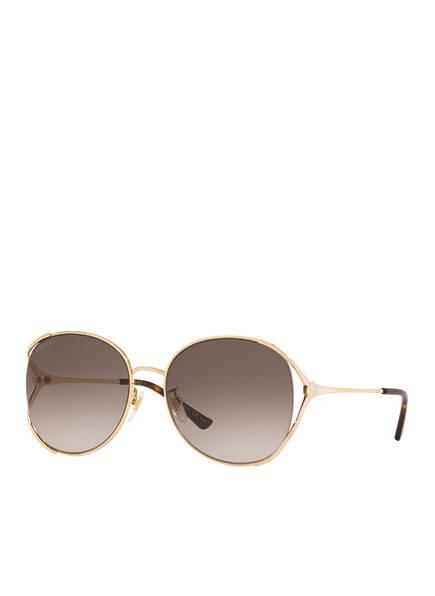 GUCCI Sonnenbrille GC001375, Farbe: 2390L3 - GOLD/ BRAUN VERLAUF (Bild 1)