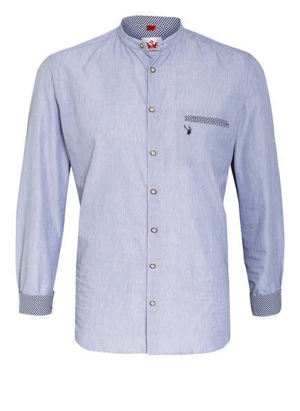 Spieth & Wensky Trachtenhemd Slim Fit mit Stehkragen, Farbe: DUNKELBLAU/ WEISS (Bild 1)