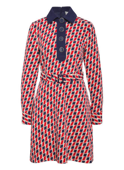damsel in a dress Hemdblusenkleid MINDY, Farbe: ROT/ DUNKELBLAU/ WEISS (Bild 1)