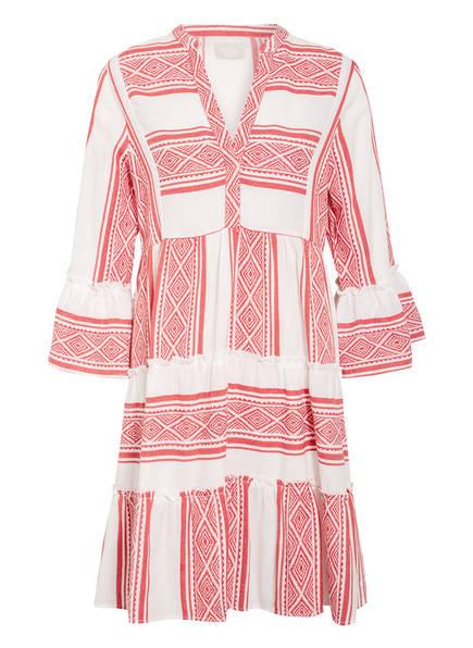 Mrs & HUGS Kleid mit 3/4-Arm und Volantbesatz, Farbe: WEISS/ ROT (Bild 1)
