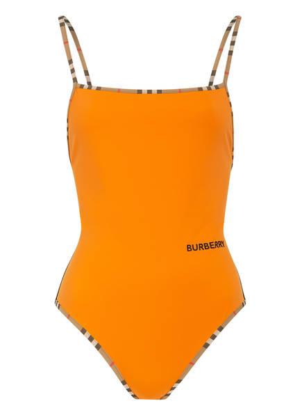 BURBERRY Badeanzug DELIA, Farbe: ORANGE/ SCHWARZ (Bild 1)