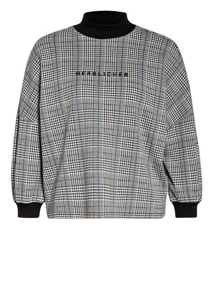 Herrlicher Sweatshirt SELINA mit 3/4-Arm , Farbe: WEISS/ SCHWARZ/ BLAU (Bild 1)