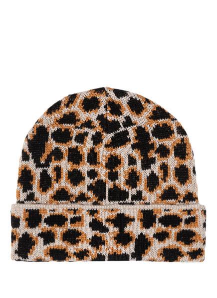 BECKSÖNDERGAARD Mütze JADIA mit Glitzergarn, Farbe: TAUPE/ SCHWARZ/ BRAUN (Bild 1)