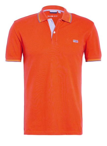 Napapijri Piqué-Poloshirt Taly Stripe Slim Fit orange