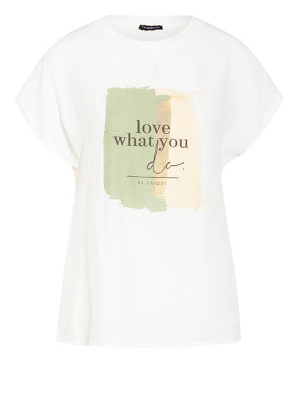 ONE MORE STORY T-Shirt im Materialmix, Farbe: WEISS (Bild 1)