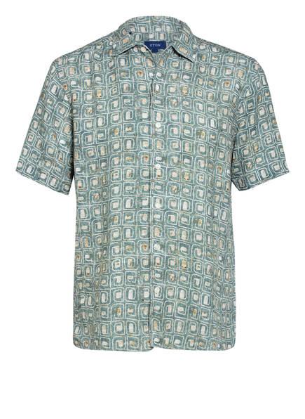 ETON Halbarm-Hemd Relaxed Fit aus Leinen, Farbe: GRÜN (Bild 1)