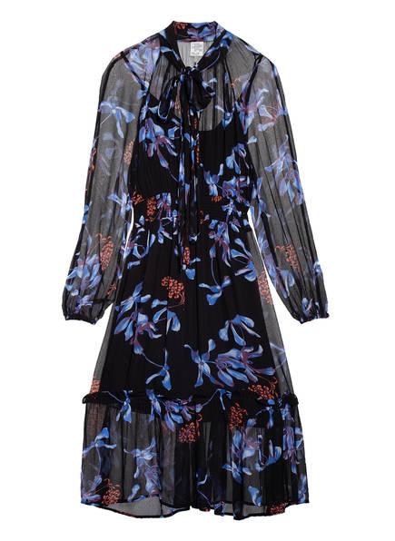BAUM UND PFERDGARTEN Kleid AELEIS, Farbe: SCHWARZ/ BLAU/ ROT (Bild 1)