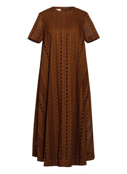 BAUM UND PFERDGARTEN Kleid ALAISA mit Lochspitze, Farbe: DUNKELBRAUN (Bild 1)