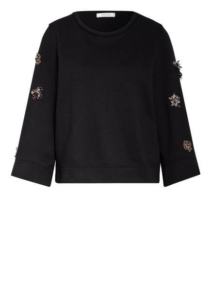 DOROTHEE SCHUMACHER Sweatshirt CASUAL COOLNESS mit Schmucksteinbesatz, Farbe: SCHWARZ (Bild 1)