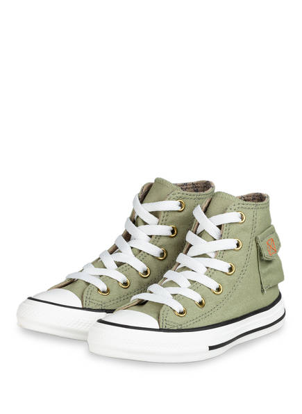 CONVERSE Hightop-Sneaker CHUCK TAYLOR ALL STAR POCKET, Farbe: HELLGRÜN (Bild 1)