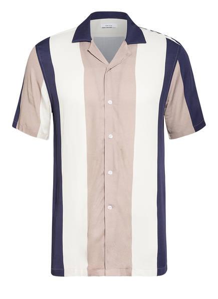 REISS Resorthemd ALVIN Slim Fit, Farbe: DUNKELBLAU/ BEIGE/ CREME (Bild 1)