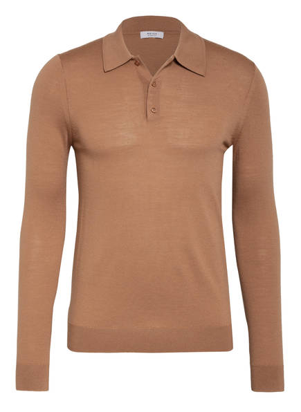 REISS Strick-Poloshirt TRAFFORD , Farbe: CAMEL (Bild 1)