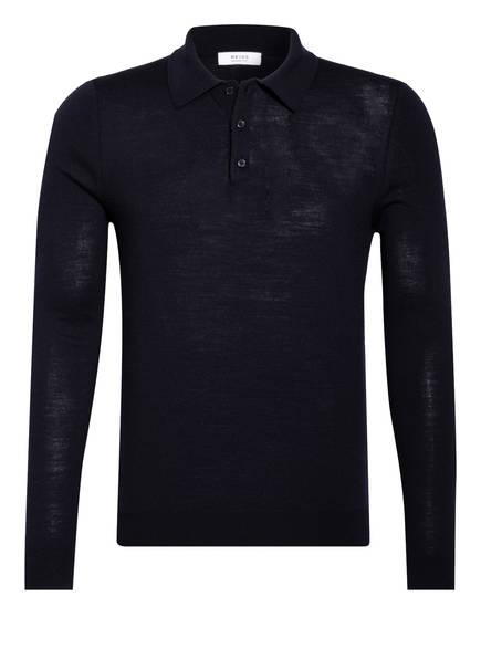 REISS Strick-Poloshirt TRAFFORD , Farbe: DUNKELBLAU (Bild 1)