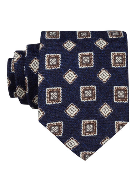 REISS Krawatte AREZZO, Farbe: DUNKELBLAU/ WEISS/ DUNKELBRAUN (Bild 1)
