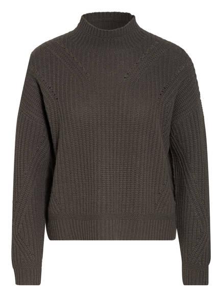 Mrs & HUGS Cropped-Pullover aus Cashmere, Farbe: KHAKI (Bild 1)