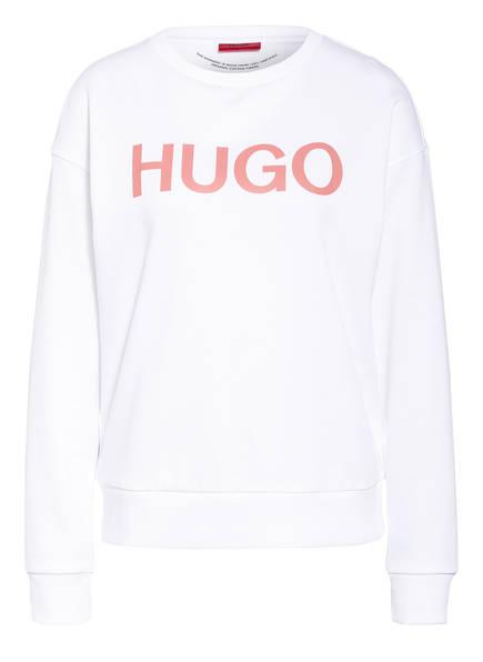 HUGO Sweatshirt NAKIRA, Farbe: WEISS/ HELLROT (Bild 1)