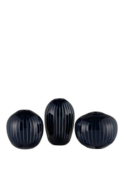 KÄHLER 3er-Set Vasen HAMMERSHØI, Farbe: DUNKELBLAU (Bild 1)