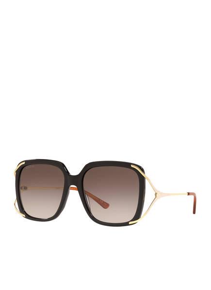 GUCCI Sonnenbrille GC001373, Farbe: 1330L3 - SCHWARZ/ GOLD/ BRAUN VERLAUF (Bild 1)