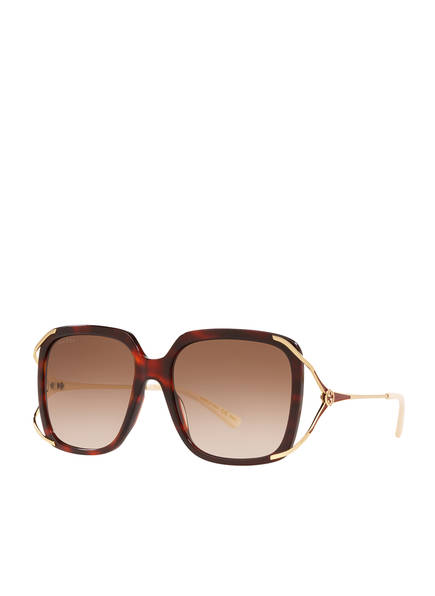 GUCCI Sonnenbrille GC001373, Farbe: 4560D4 - HAVANA/ HELLBRAUN VERLAUF (Bild 1)