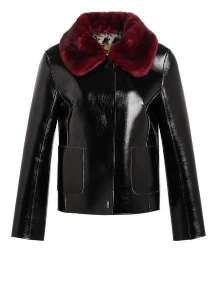 MARC CAIN Jacke zum Wenden mit abnehmbarem Kunstfellbesatz, Farbe: BLACK (Bild 1)