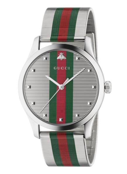 GUCCI Armbanduhr G-TIMELESS, Farbe: SILBER/ GRÜN/ ROT (Bild 1)
