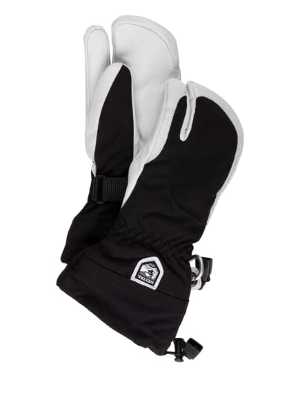 HESTRA 3-Finger-Skihandschuhe ARMY LEATHER HELI, Farbe: 100020 black (Bild 1)