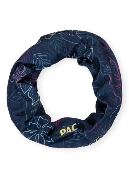 P.A.C. Multifunktionstuch mit UV-Schutz 40+, Farbe: DUNKELBLAU/ PINK/ GELB (Bild 1)