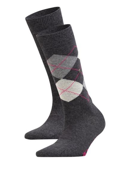 Burlington 2er-Pack Socken EVERYDAY MIX, Farbe: 3081 ANTHRA.MEL (Bild 1)
