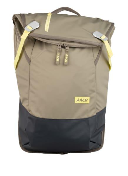 AEVOR Rucksack DAYPACK 18 l (erweiterbar auf 28 Liter) mit Laptop-Fach, Farbe: HELLGRÜN/ GRAU (Bild 1)