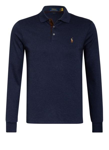 POLO RALPH LAUREN Jersey-Poloshirt Slim Fit, Farbe: DUNKELBLAU (Bild 1)