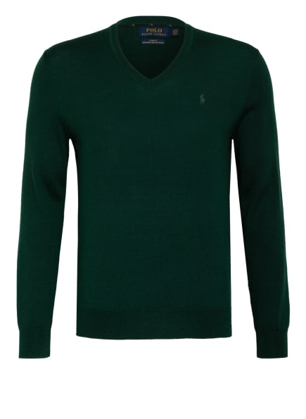 POLO RALPH LAUREN Pullover aus Merinowolle, Farbe: DUNKELGRÜN (Bild 1)