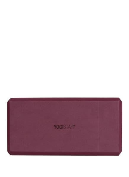 YOGISTAR Yoga-Block YOGIBLOCK, Farbe: DUNKELROT (Bild 1)
