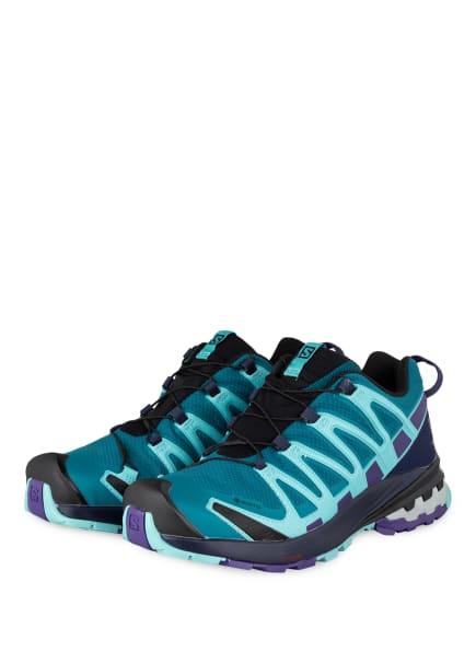 SALOMON Trailrunning-Schuhe XA PRO 3D V8 GTX, Farbe: PETROL/ TÜRKIS/ LILA (Bild 1)