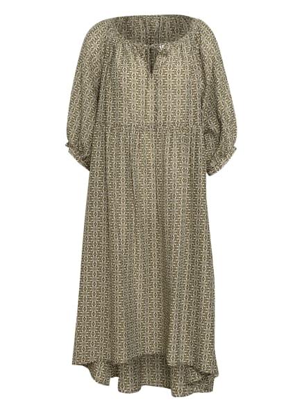 DRYKORN Kleid JOYEE mit Seide, Farbe: KHAKI/ WEISS (Bild 1)