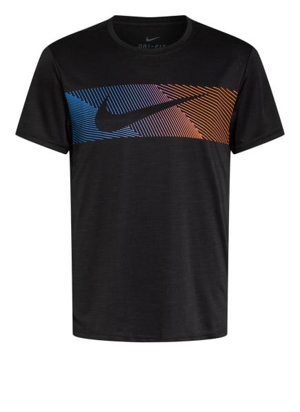 Nike T-Shirt, Farbe: SCHWARZ/ BLAU/ ORANGE (Bild 1)