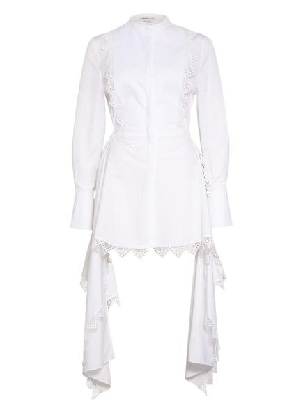 ALEXANDER McQUEEN Kleid LOOK 13 mit Häkelspitze, Farbe: WEISS (Bild 1)