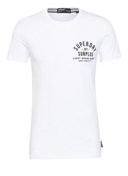 Superdry T-Shirt SURPLUS GOODS, Farbe: WEISS/ SCHWARZ (Bild 1)