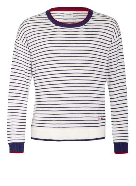 Pepe Jeans Pullover, Farbe: WEISS/ BLAU (Bild 1)