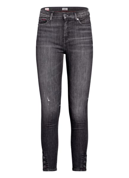 TOMMY JEANS Skinny Jeans NORA , Farbe: 1A5 ASTER BLACK STRETCH DESTRUCTED (Bild 1)