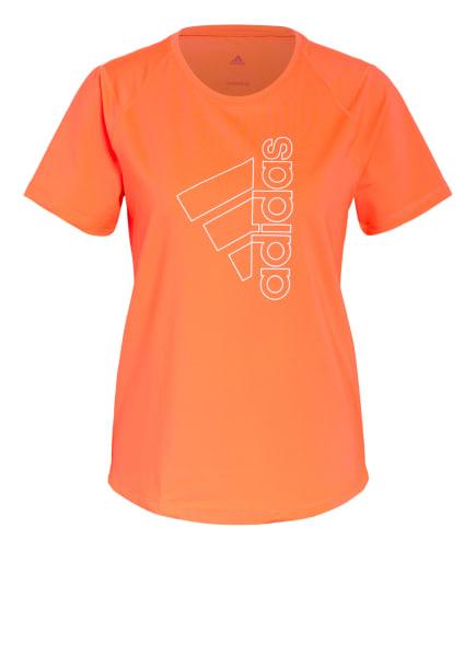 adidas T-Shirt TECH BADGE OF SPORT, Farbe: NEONPINK (Bild 1)