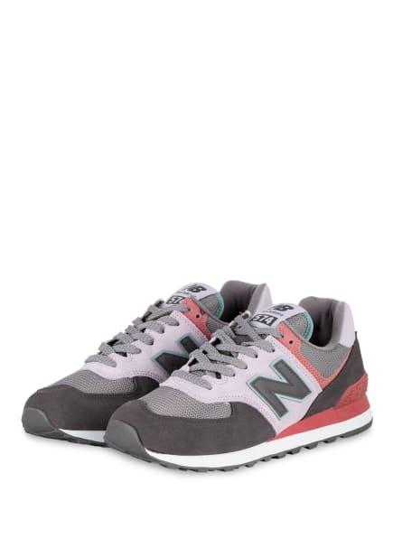 new balance Sneaker WL574, Farbe: DUNKELGRAU/ ROSA/ HELLLILA (Bild 1)